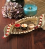 Anisha Creatives Multicolour Metal Puja Thali
