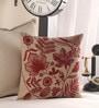 Anna Simona Beige Cotton 16 x 16 Inch Cushion Cover