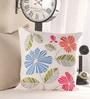Anna Simona Multicolour Cotton 16 x 16 Inch Cushion Cover