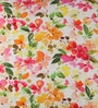 Anna Simona Multicolour Cotton 16 x 16 Inch Floral Printed Cushion Cover
