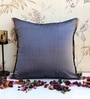 Grey Poly Silk 16 x 16 Inch Cushion Cover by ANS