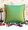 ANS Lap Green Poly Silk 16 x 16 Inch Cushion Cover