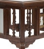 Antique Dhokra Work 18 Inch Teak Wood End Table by VarEesha