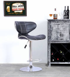 Apple Bar Chair In Black Leatherette By Furniease