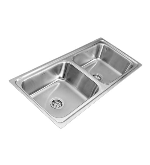 Buy Apollo As 34 Stainless Steel Double Kitchen Sink Online