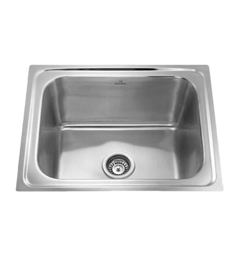 Apollo Stainless Steel Single Bowl Kitchen Sink - AS17