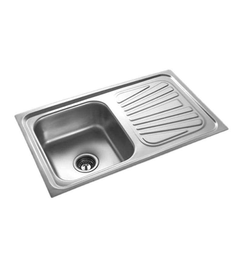 Apollo Stainless Steel Single Bowl Kitchen Sink with Drainer - AS23
