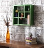 Panama Contemporary Wall Shelf in Green by CasaCraft