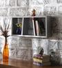 Phoebus Contemporary Wall Shelf in Grey by CasaCraft