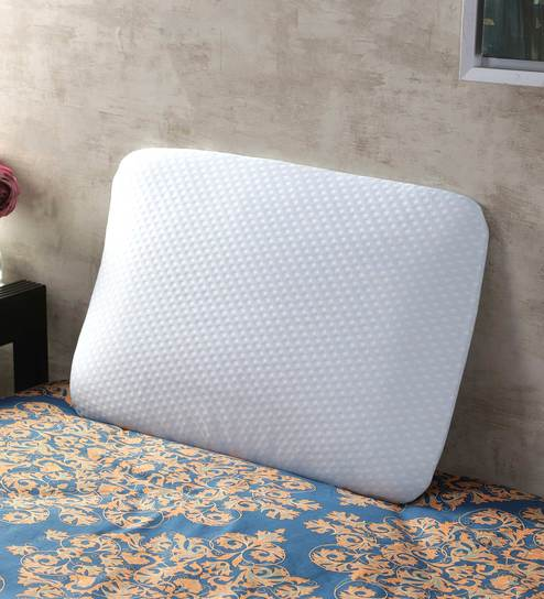 Aquamarine Memory Foam Ultra Slim Stomach Sleeper Pillow 15x24x2 5 Inches By Magasin Online Inserts Mattresses Bedding