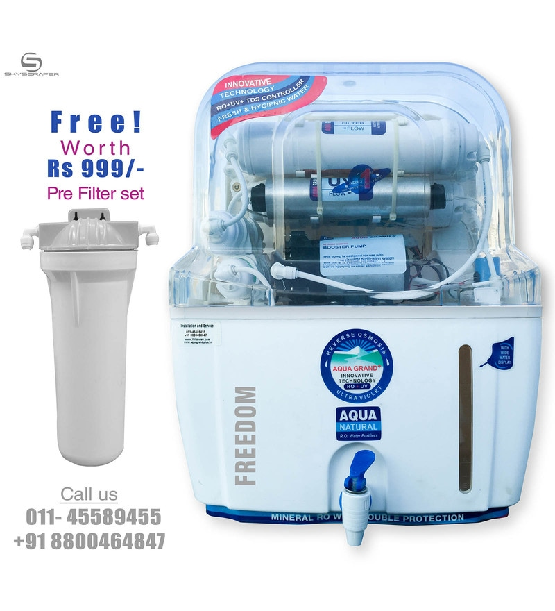 6af1014d62c Buy Aquagrand Plus Freedom 12 L RO + UV + UF Water Purifier Online ...