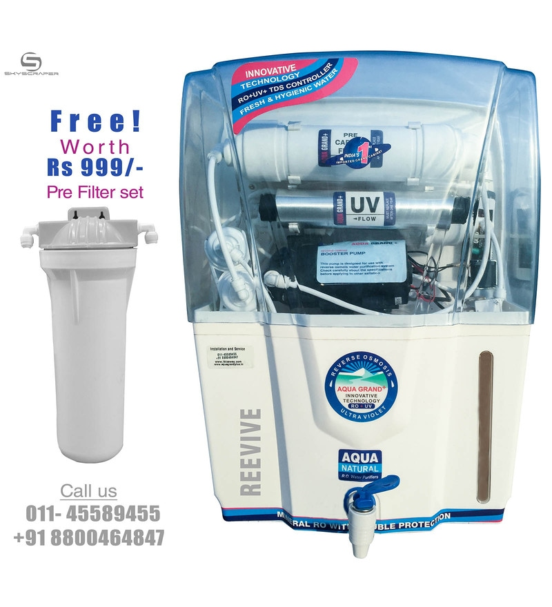 Aquagrand Plus Revive 12 L RO + UV + UF Water Purifier