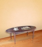 Arc Oval Coffee Table in Warm Rich Finish
