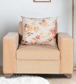 Archis One Seater Sofa in Light Brown Colour
