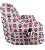 XXL Bean Bag Arm Chair with Beans in Multicolour
