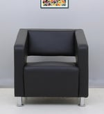 Arrow One Seater  Sofa in Black Colour