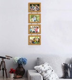 Synthetic Wood 31 x 9 Pearl Drop Photo Frame - Set of 4