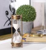 Brown Brass Hourglass