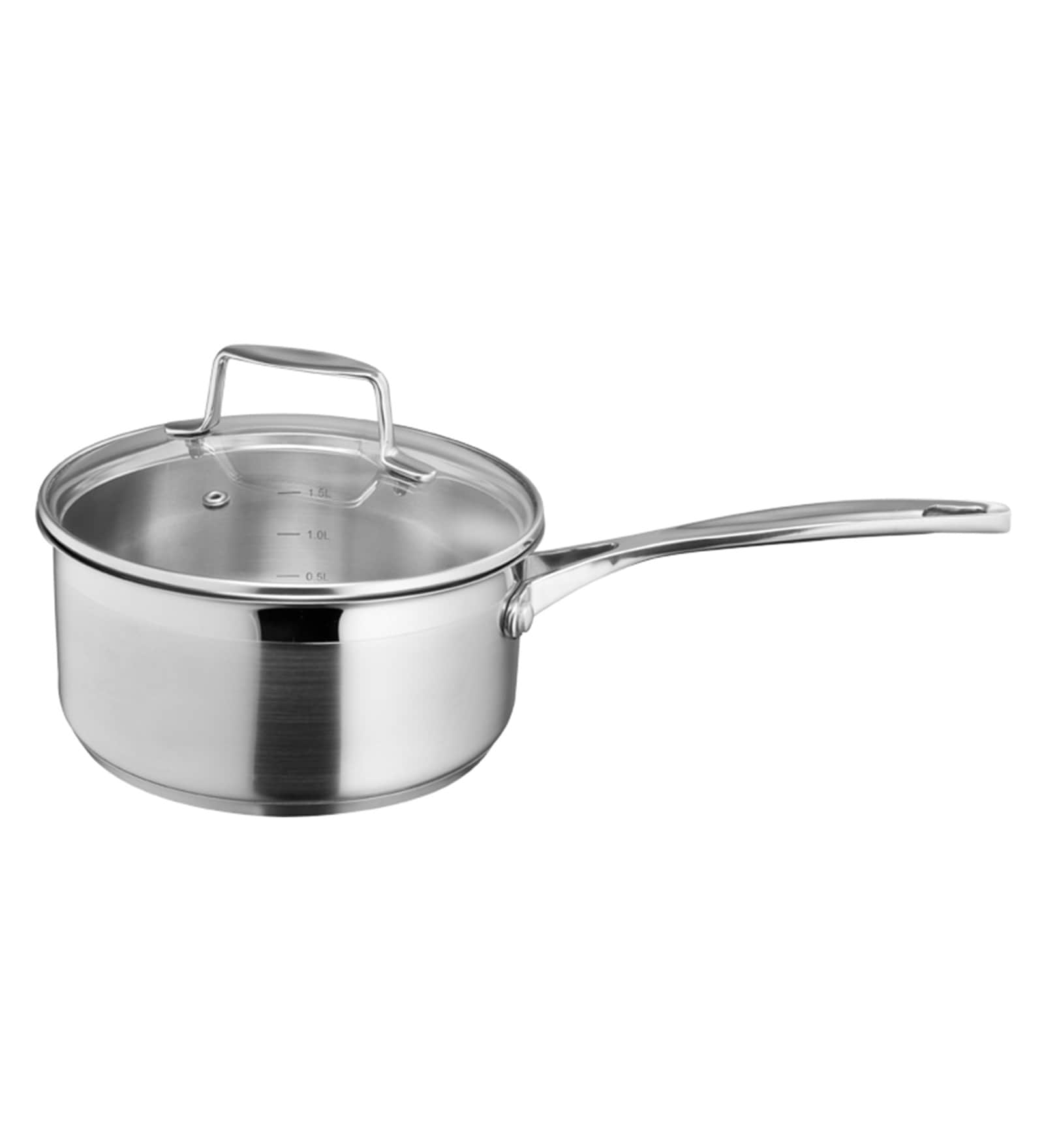 Stainless Steel 1.5 L Non Stick Sauce Pan with Glass Lid by Arttdinox