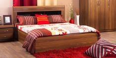 Archer Queen Size Bed in American Walnut Finish