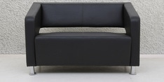 Arrow Two Seater Sofa in Black Colour