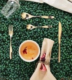 Sanjeev Kapoor Arc Gold Titanium Premium Stainless Steel Cutlery - Set Of 24