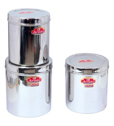 Aristo Stainless Steel Jumbo Storage Containers - Set Of 3