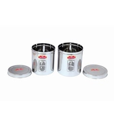 Aristo Stainless Steel Round 3500 Ml, 4250 Ml Container - Set Of 2 - 1603515