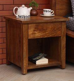 arlene bedside table natural finish