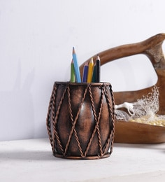 Multicolour Solid Wood Pen Holder