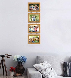 Art Street Synthetic Wood 31 X 9 Pearl Drop Photo Frame  - Set Of 4 - 1605944
