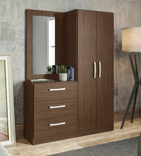 Araki 2 Door Wardrobe Dressing Table By Mintwud