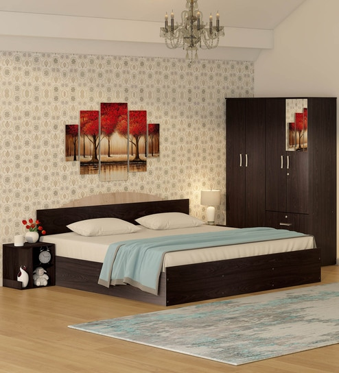 Bedroom Sets.Buy Arisa Bedroom Set King Bed With Storage 4 Door Wardrobe