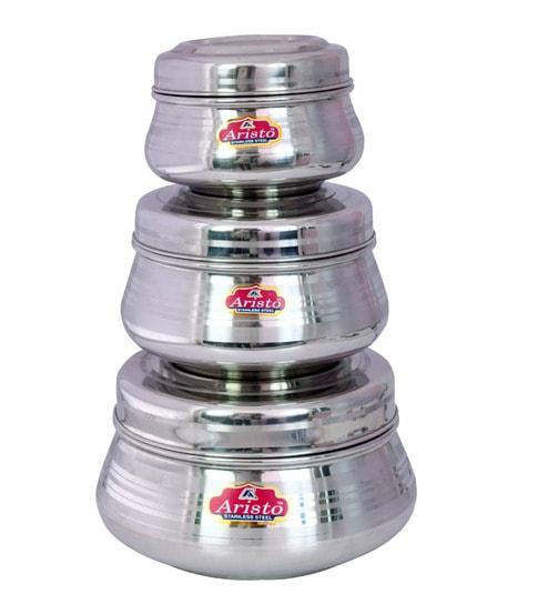 Aristo Designe Silver Storage Container   Set Of 3