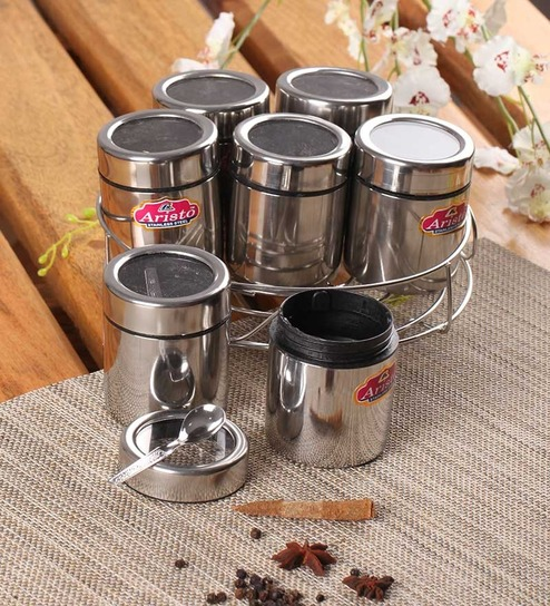 Buy Aristo Silver Masala Amp Dryfruit Box Set Of 7 Online