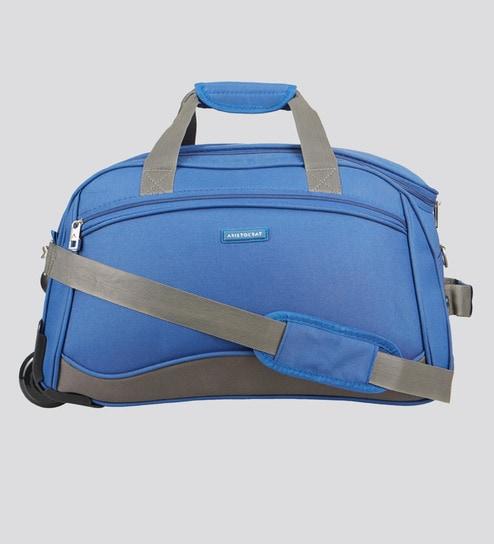 b4fd7467da Buy Aristocrat Polyester Blue Duffel Bag