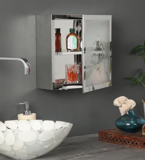 Chrome Stainless Steel Bathroom Cabinet By Arrow
