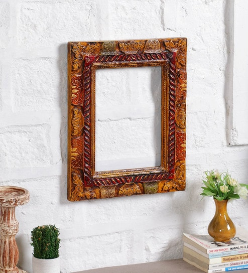 Buy Multicolor Solid Wood 14 X 17 Inch Single Photo Frame By Art Of
