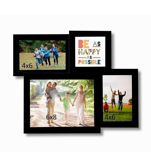 Buy Art Street 4D Collage Black Cotton Photo Frame Online - Collage ...