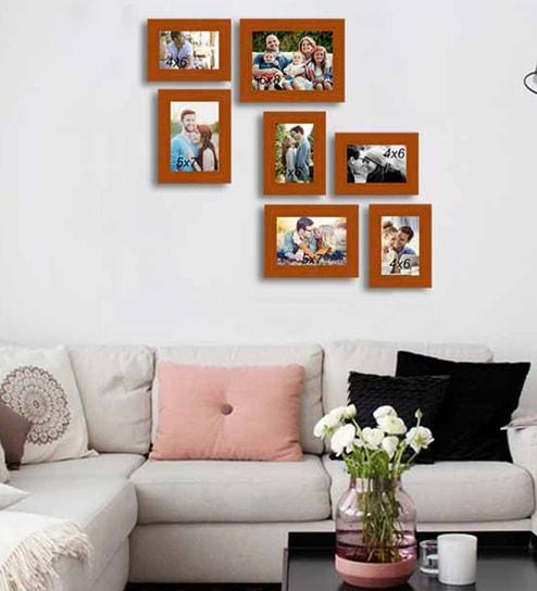 Buy Brown Fibre Wood Painting Mantra Victory Individual Wall Photo
