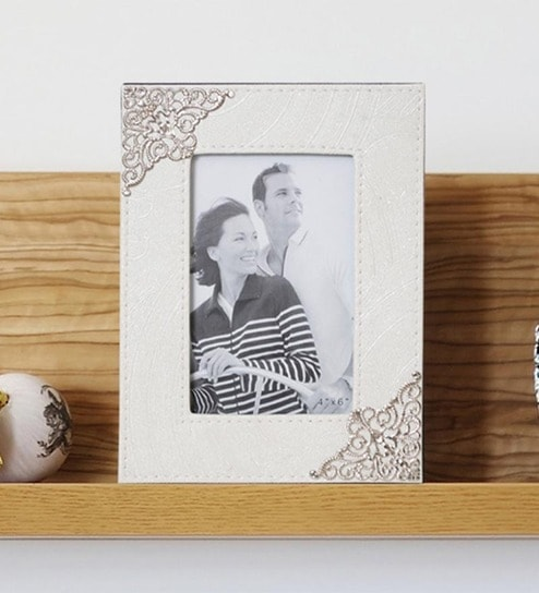 Buy Art Street Crown Table White Fiber Photo Frame Online - Single ...