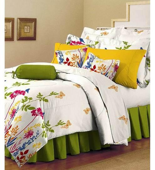 Arto Cotton Folio Garden Double Bedsheet Set