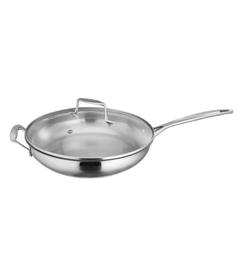 Stainless Steel 1 L Non Stick Frying Pan With Gl Lid By Arttdinox