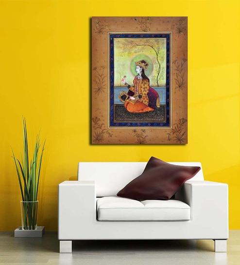 Buy Artzloom Maharani Wood And Cotton 16 X 211 Inch Framed Canvas