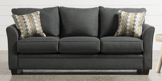 Argos Three Seater Sofa In Grey Color By Planet Decor