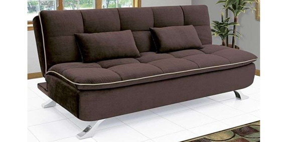 Buy Ariana Soft Sofa Cum Bed In Dark Coffee Colour By Furny Online