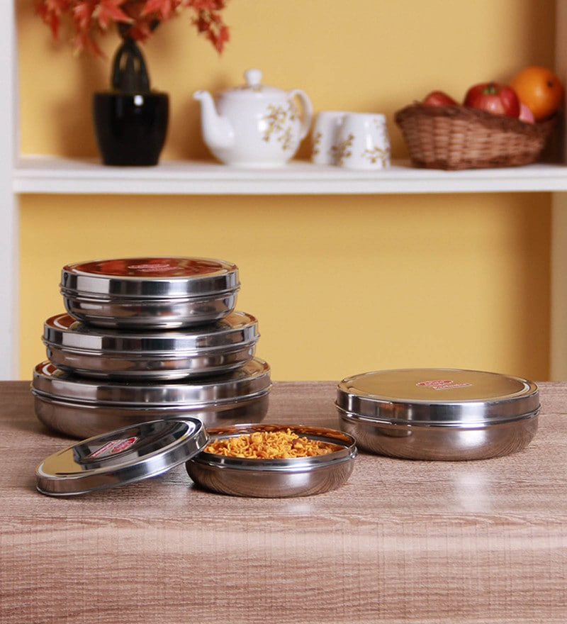 Aristo Silver Storage Container - Set of 5
