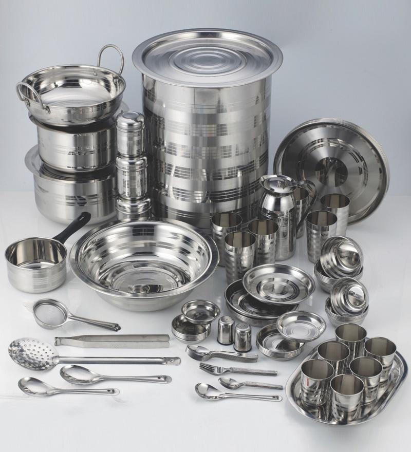 Aristo Stainless Steel 101 Pcs Complete Kitchen Set By Aristo Online