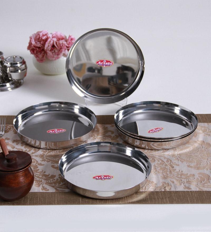 Aristo Steel Dinner Plates - Set of 6