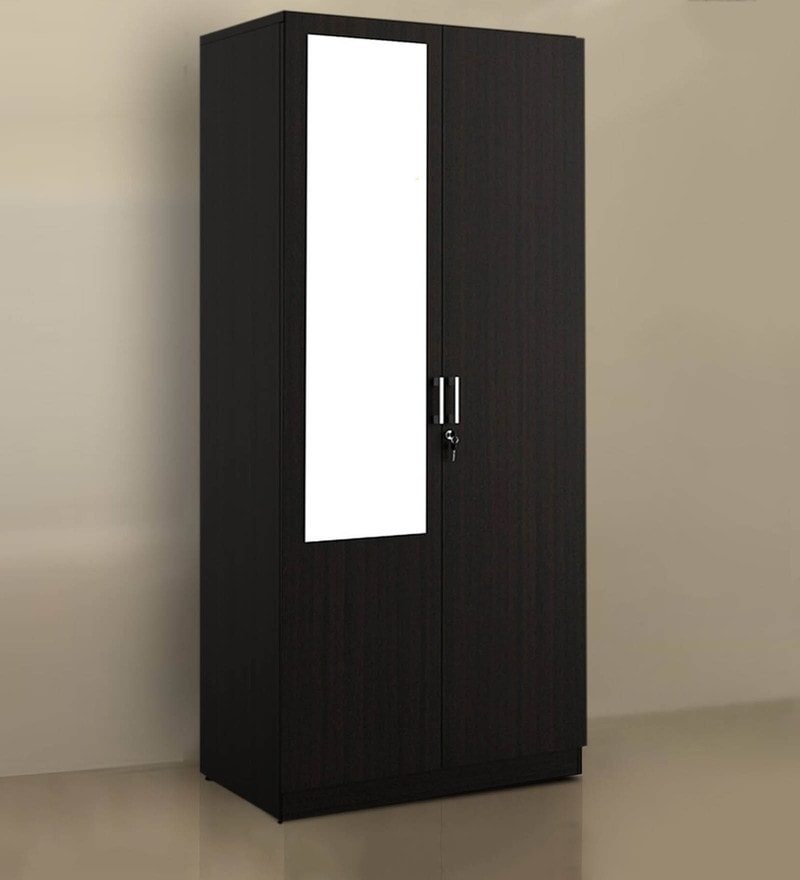 buy arko two door wardrobe in wenge finish by spacewood. Black Bedroom Furniture Sets. Home Design Ideas